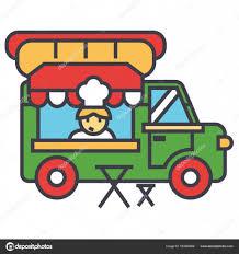 camion cuisine mobile camion de restauration rapide alimentation de rue concept de