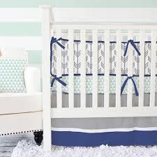mint u0026 navy arrow crib bedding set by caden lane rosenberryrooms com