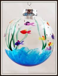 painted fish ornament