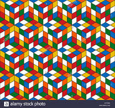 retro wrapping paper magic cube retro 80s seamless pattern background illustration
