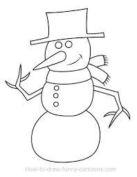 drawing a snowman cartoon