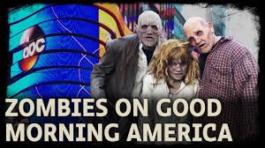 scarehouse zombies on good morning america youtube