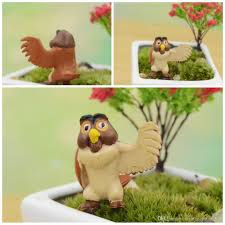 2017 cute owl figurines diy terrarium micro landscape office table