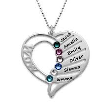 birthstone necklaces for mothers engraved birthstone necklace mynamenecklace