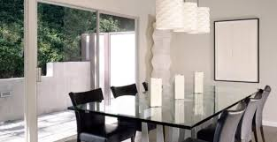 Leather Chairs For Kitchen Table Dining Room Contemporary Dining Room Ideas With Round Glass
