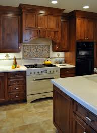 Kitchen Tile Backsplash Design Ideas Home Design Glamorous Backsplash Behind Stove With Tile Flooring
