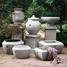 Urn Planters With Pedestal Urn Planters Fine Cast Stone Urns Jardinieres Pedestals