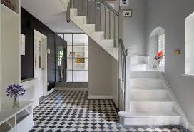 Painting A Banister Black Grey Banister Staircase Transitional With White Staircase Gray