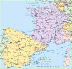 Marseille France Map by Map Of Spain And France