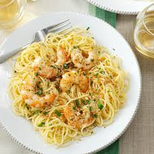 Pasta Recipes by Shrimp Scampi Recipe Taste Of Home