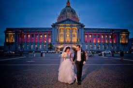 san francisco city wedding photographer in front of the building san francisco wedding photography sf