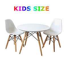 amazon kids table and chairs amazon com buschman set of table and 2 white kids eames style retro