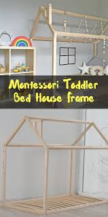 montessori toddler bed house frame etsy toddler bed house