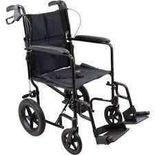 amazon com probasics transport chair wheelchair aluminum 19