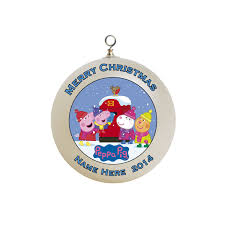 peppa pig christmas ornament custom gift 6
