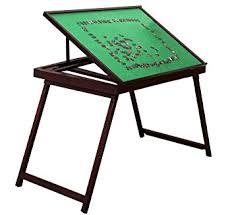 jigsaw puzzle tables portable amazon com docheer wooden jigsaw puzzle table portable folding