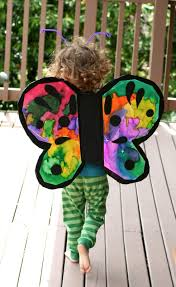 make your own cardboard butterfly wings