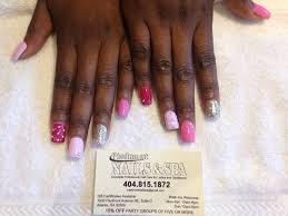 sns stiletto nails done by jj yelp