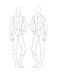 male template drawing