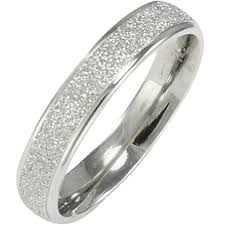 rings with bands images Stainless steel sparkle 3 8mm band ring women jpg