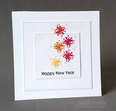 happy new year paper cards maskerade pss happy new year
