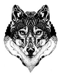 wolf mandala tattoo coloring page for kids kids coloring