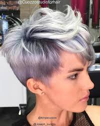 funky hairstyle for silver hair 60 classy short haircuts and hairstyles for thick hair purple