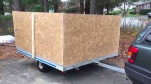 how to build sides on a snowmobile trailer for leave and yard