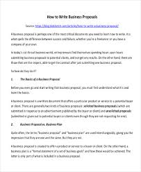 sample formal proposal letter 7 example in pdf wordproduct