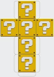 printable question dice my super mario boy mario downloadable printable block templates