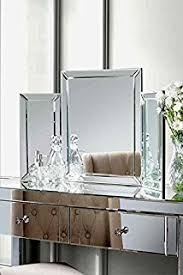 Glass Vanity Table With Mirror Beautify Mirrored Dressing Table Console With Large Drawers