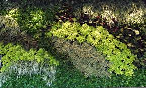 interior and exterior artificial green wall plantings make be leaves