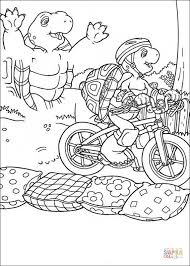 franklin riding bicycle coloring free printable