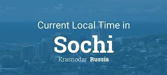 New Climate Zones For Russia by Current Local Time In Sochi Russia