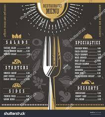 restaurant menu design abstract menu layout stock vector 363710030