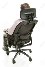 White Ergonomic Office Chair by Executive Sitting In A Fully Adjustable Ergonomic Office Chair