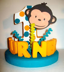 Baby Monkey Centerpieces by 29 Best Eva U0027s First Birthday Images On Pinterest Birthday Party