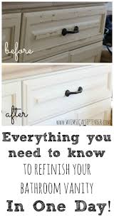 diy refinished bathroom vanity with chalk paint