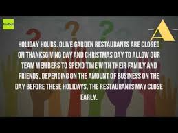 is olive garden open on day