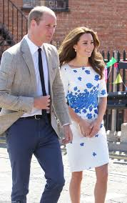 L K He Kate Middleton Recycles Lk Bennett Dress While Visiting A Youth