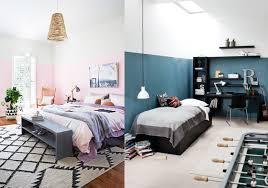 peindre mur chambre et si on peignait les murs à moitié joli place
