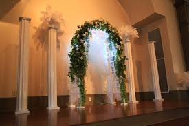 wedding arches and columns wedding ceremony arch columns uaw in hill tn