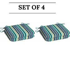 mainstays outdoor patio reversible dining chair cushion turquoise