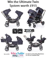abc design tandem win an abc design zoom style tandem with 2x carrycots and 2 pairs