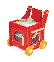 cuisine en bois jouet janod janod j06544 chariot de cuisine bois the cocotte jeux et