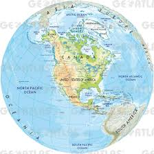 North And South America Map Blank by Map Of North America