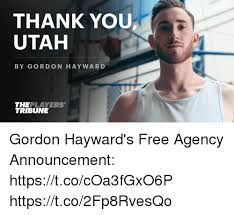 Utah Memes - thank you utah by gordon hayward theplayers tribune gordon