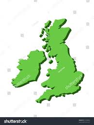 Blank Map Of Counties Of Ireland by 3d Outline Map Uk Ireland Green Stock Illustration 51336844