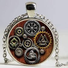 steampunk pendant necklace images Viking symbols vegvisir steampunk pendant necklace glass photo jpg