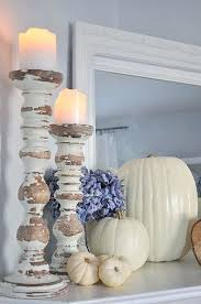 Shabby Chic Candle Sconces White Barn Candle Pumpkin Gingerbread Celerie Kemble White Pumpkin